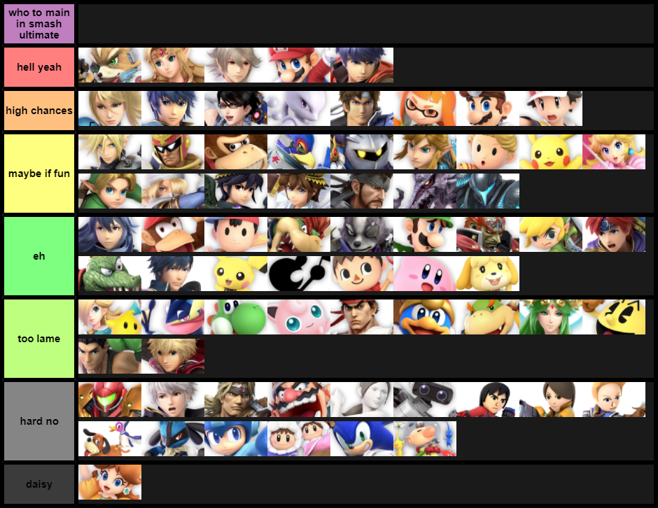 potential mains for smash ultimate
